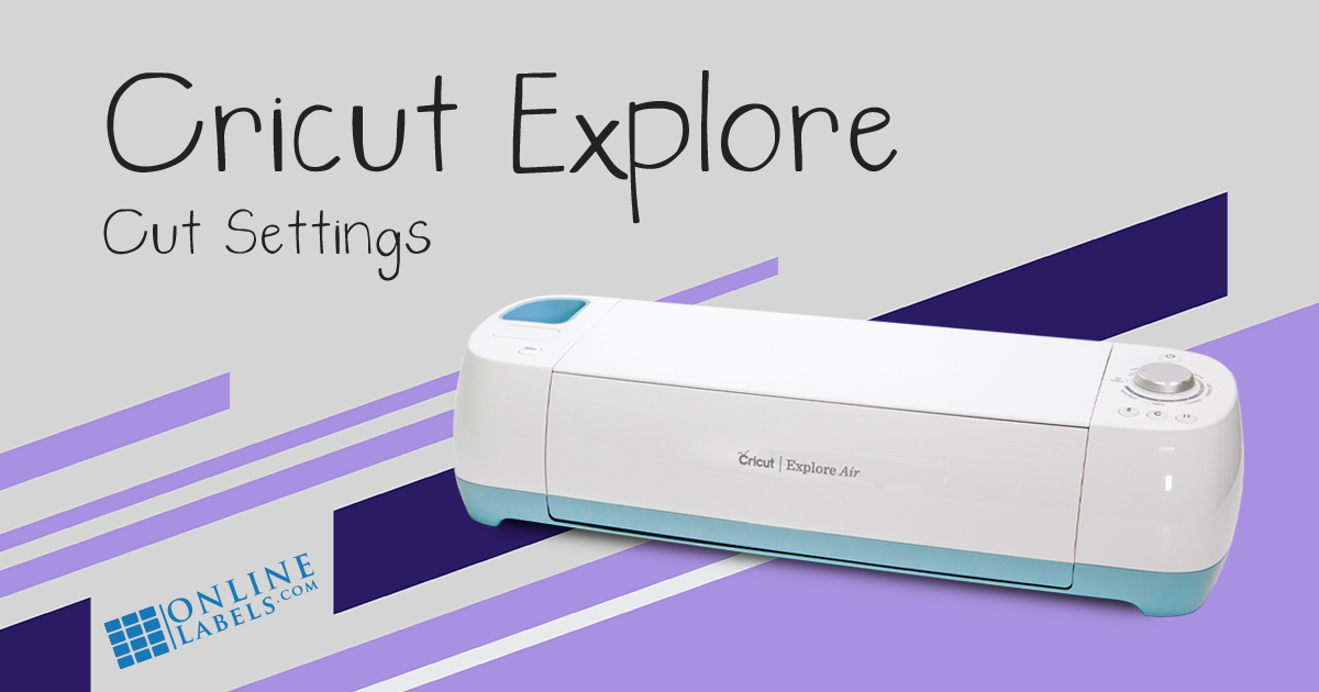 Cut settings for OnlineLabels sticker paper and Cricut Explore Air, electronic cutting machine