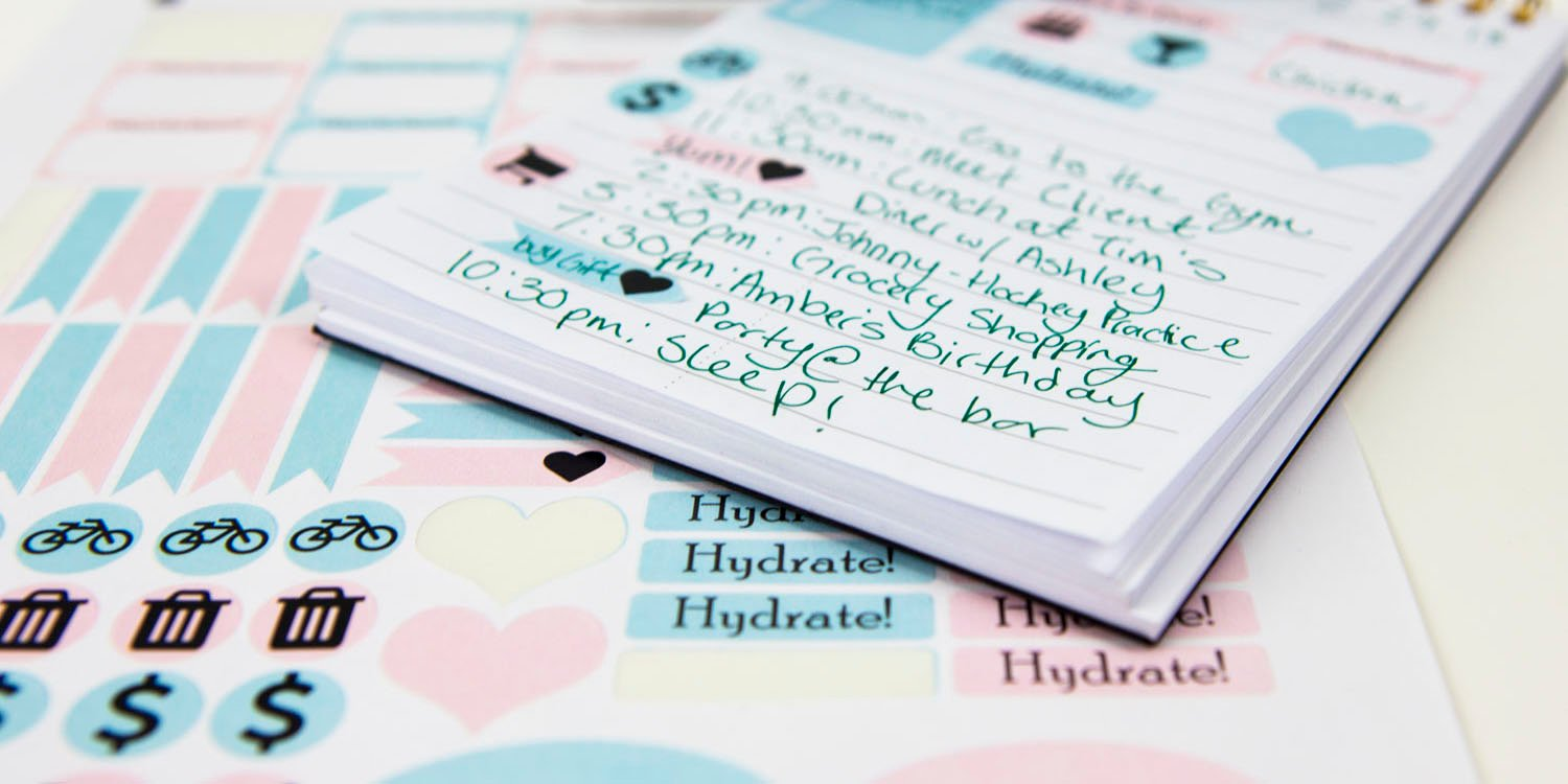 Examples of the planner stickers you can make using OnlineLabels sticker paper and your electronic cutting machine