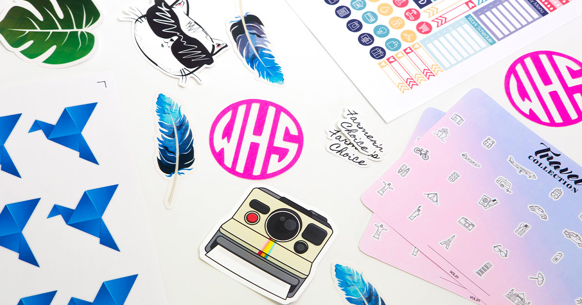 How to make custom stickers using your cutting machine, step-by-step instructions