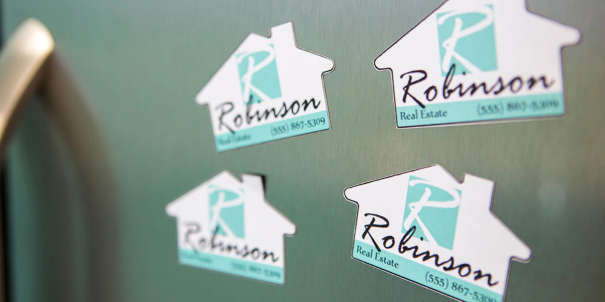 custom magnet shapes for real estate companies
