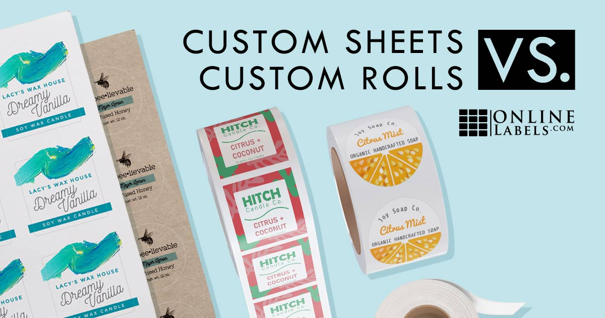 Should You Go With Custom Printed Labels on Sheets or Rolls?