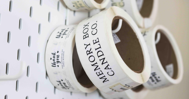 Branding labels on rolls.