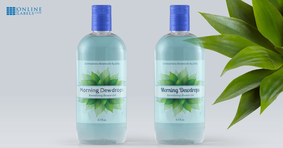 The same label design using two different fonts: How fonts change the look and feel of your bath & body product