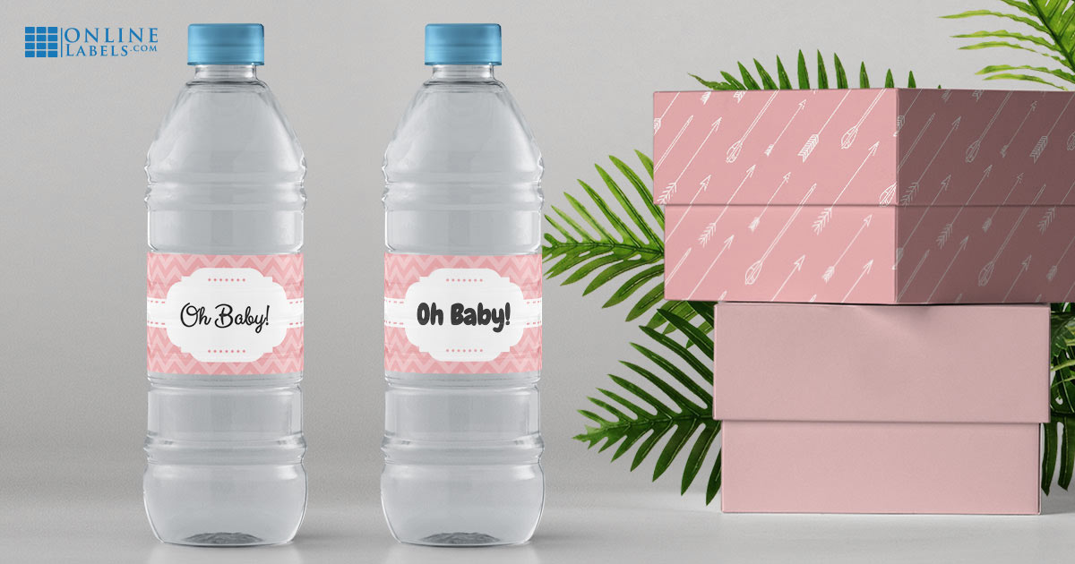 The same label design using two different fonts: How fonts change the look and feel of your water bottle