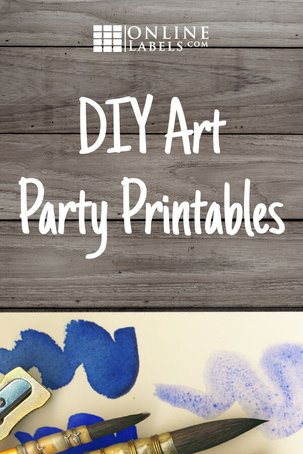 DIY party favors for an art party