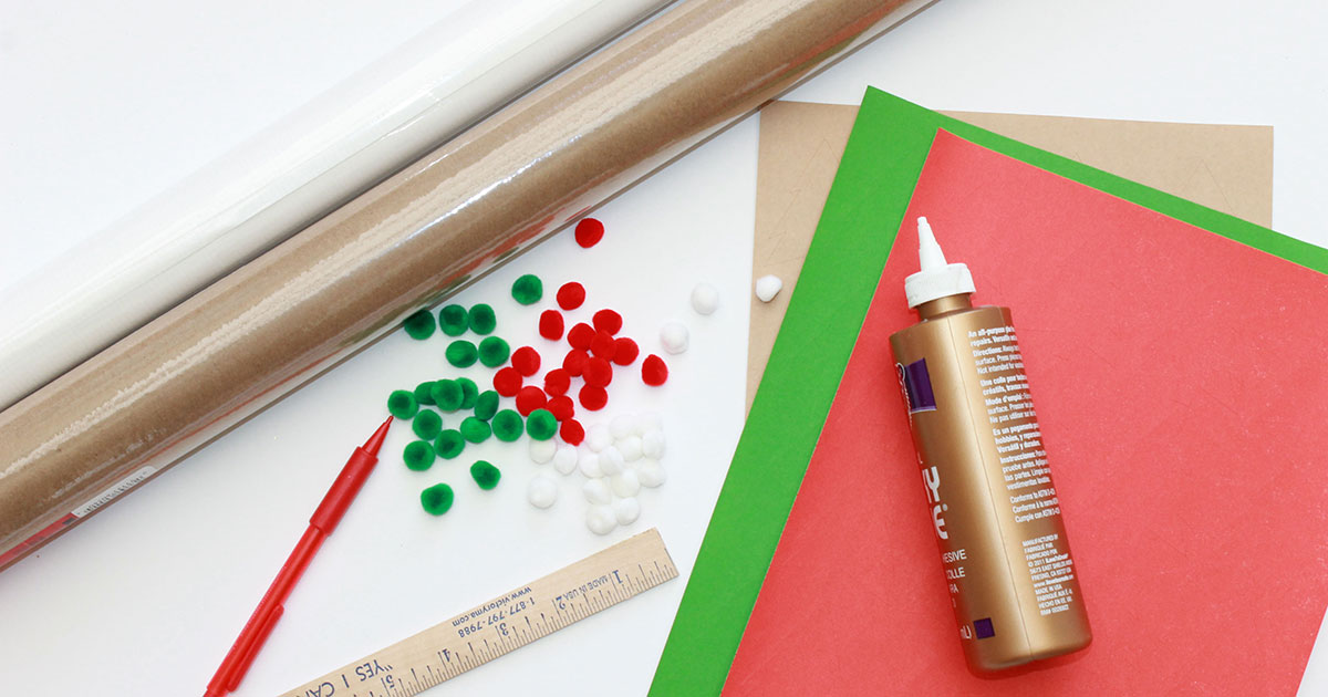 Everything you need to make your own Christmas present wrapping paper