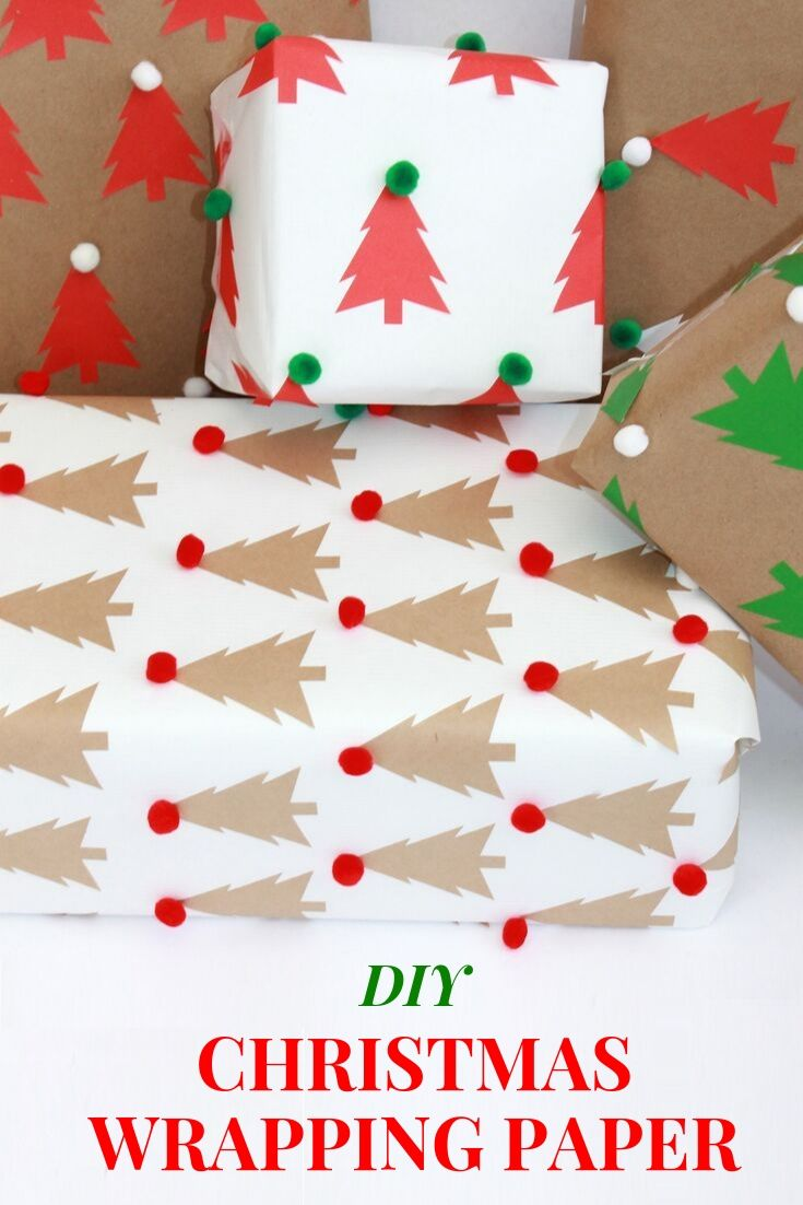 Kids Christmas craft: homemade wrapping paper