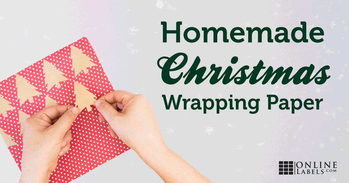 DIY Christmas Gift Wrap Using Labels