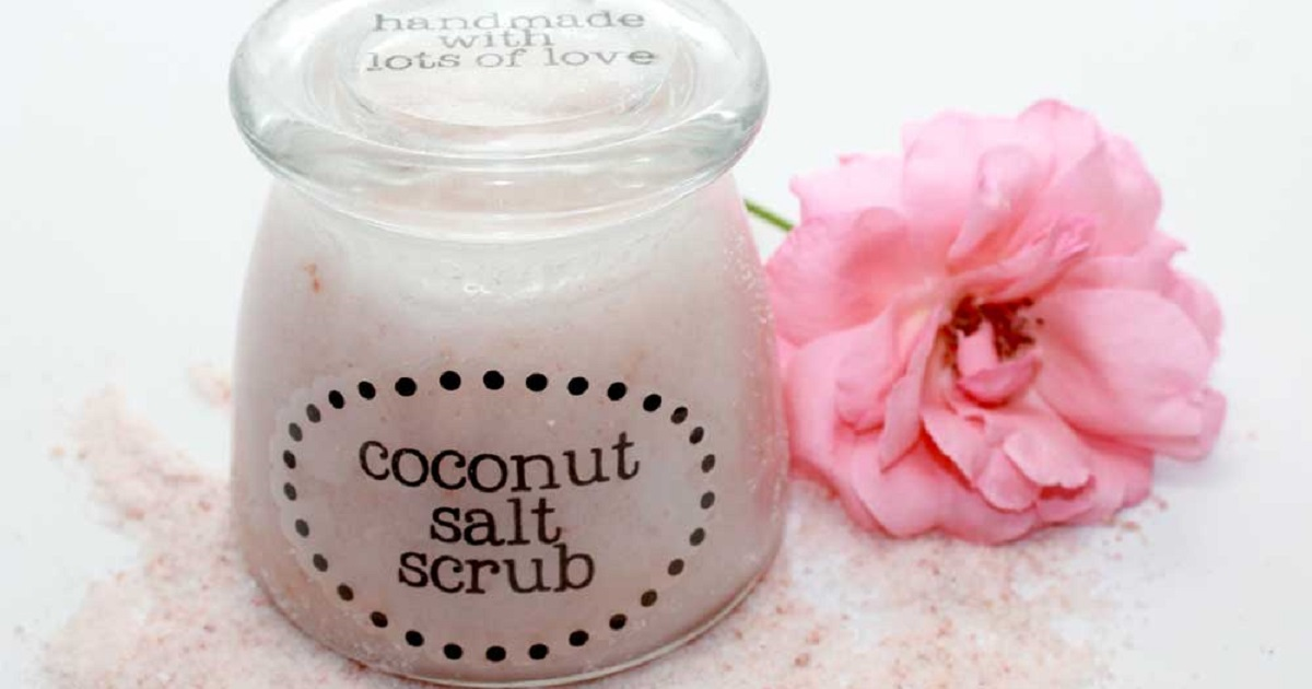 Recipe + printables for handmade coconut salt scrub