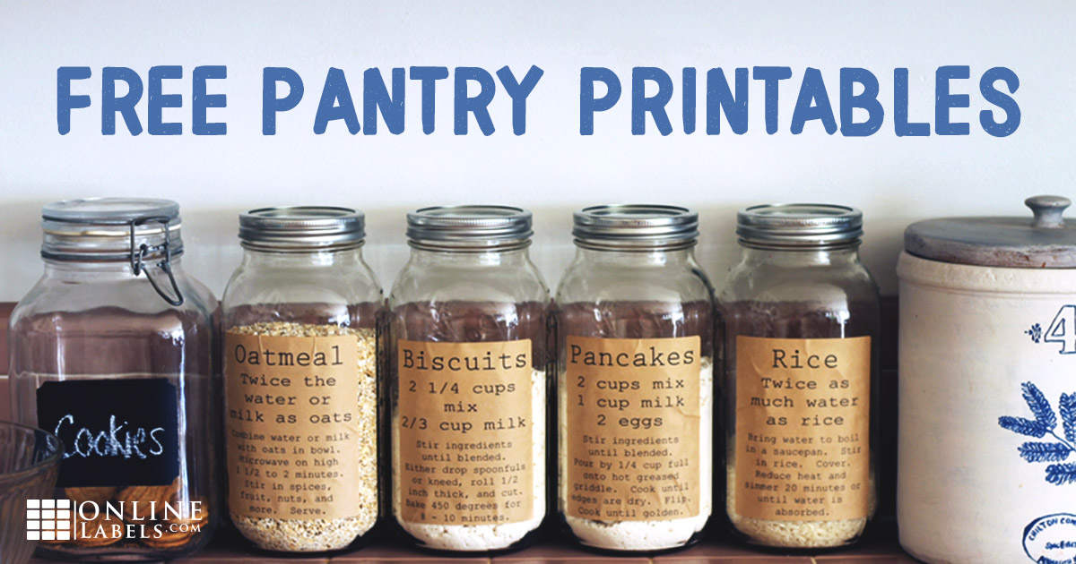 Printable Pantry Labels [Free Template]