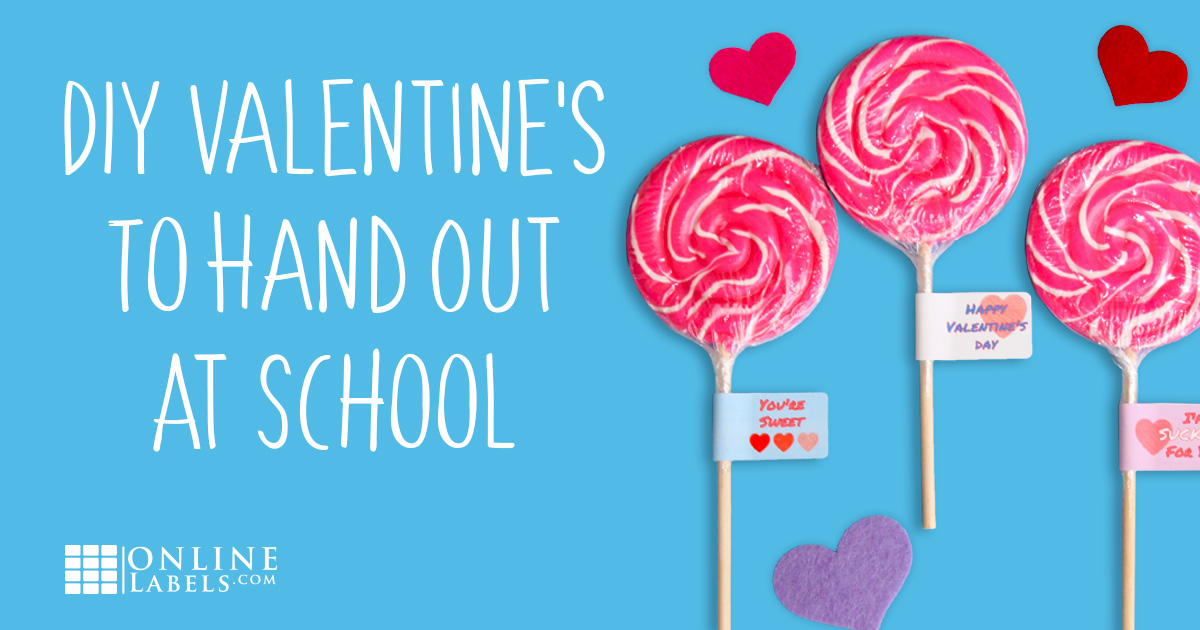 Easy Classroom Valentines: Custom Lollipop Labels