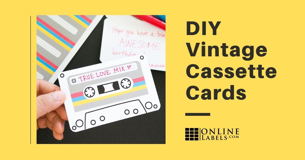 DIY cards: vintage cassette tape theme