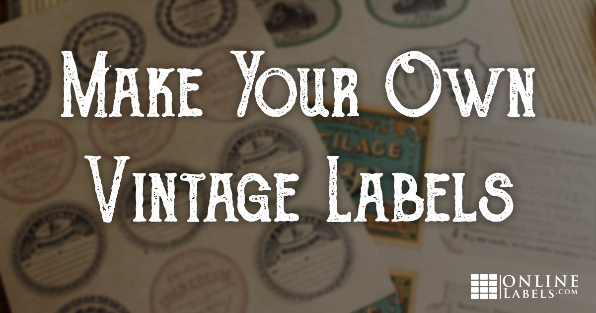 Make Your Own Distressed Vintage Labels in Minutes