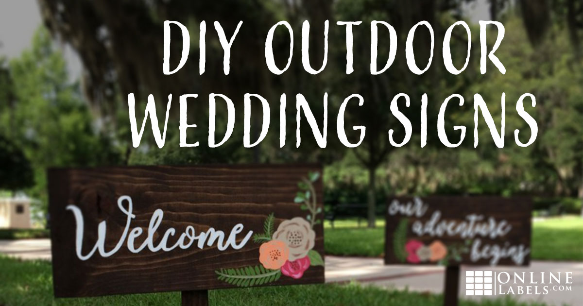 DIY Calligraphy Wedding Signs