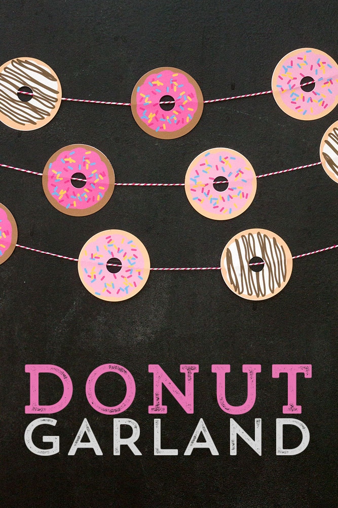 How to make a cute donut garland