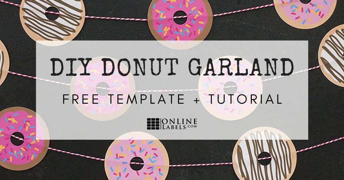 Quick and easy tutorial for creating a donut garland