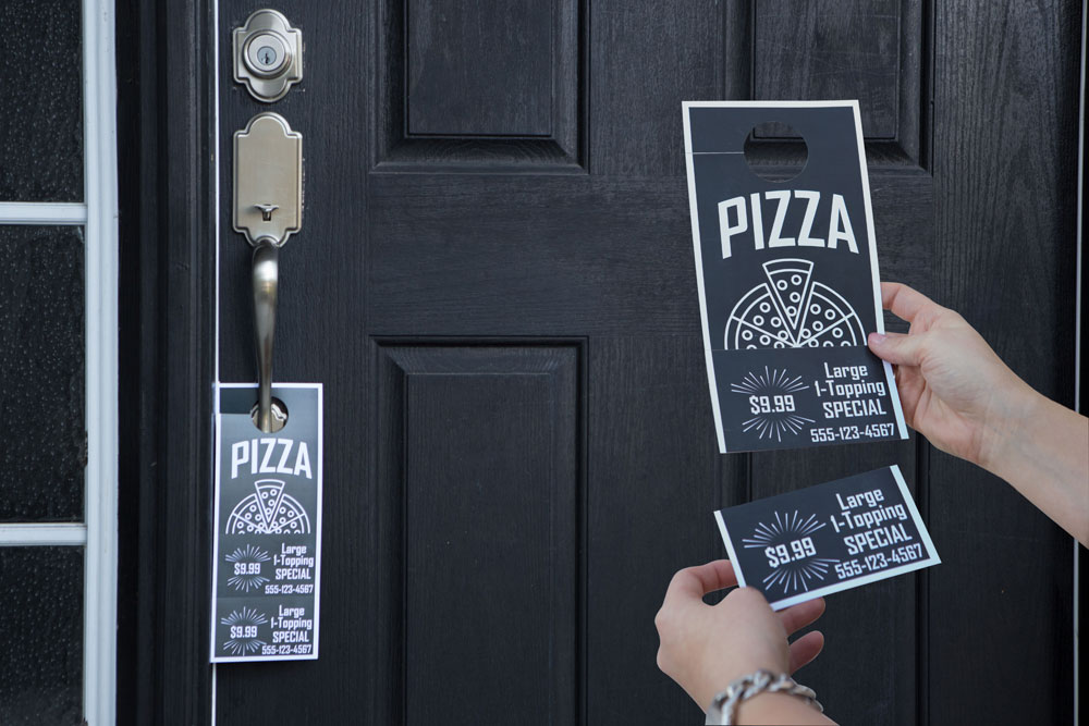Customized Door Hanger With Perforated Coupons