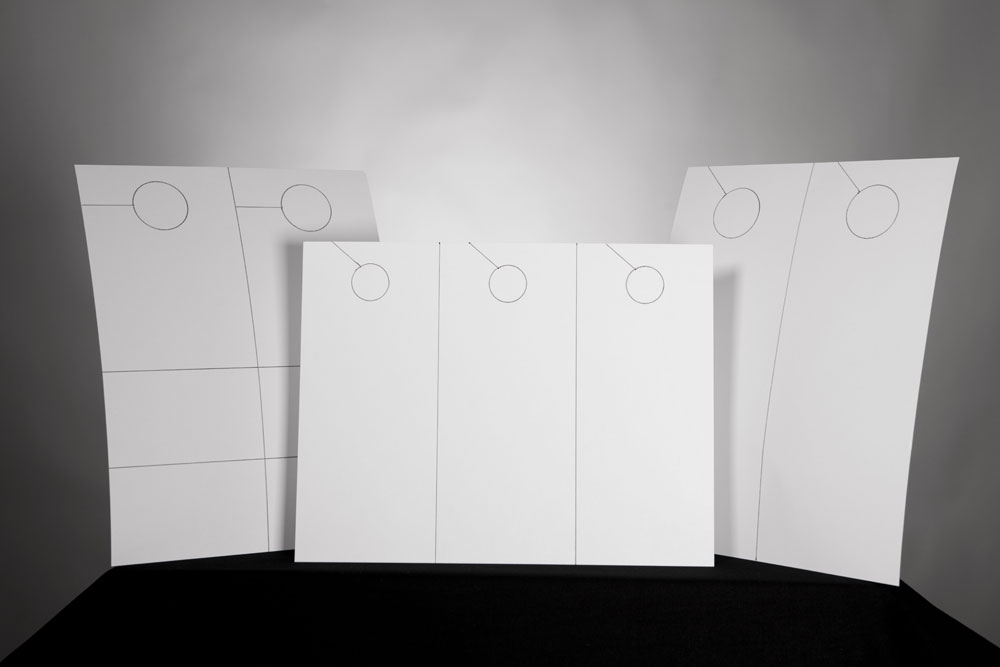 Photo of all three door hanger sizes and configurations from OnlineLabels.com