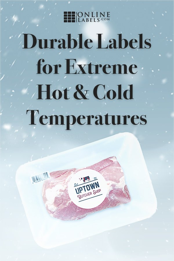 Find freezer labels and heat-resistant labels
