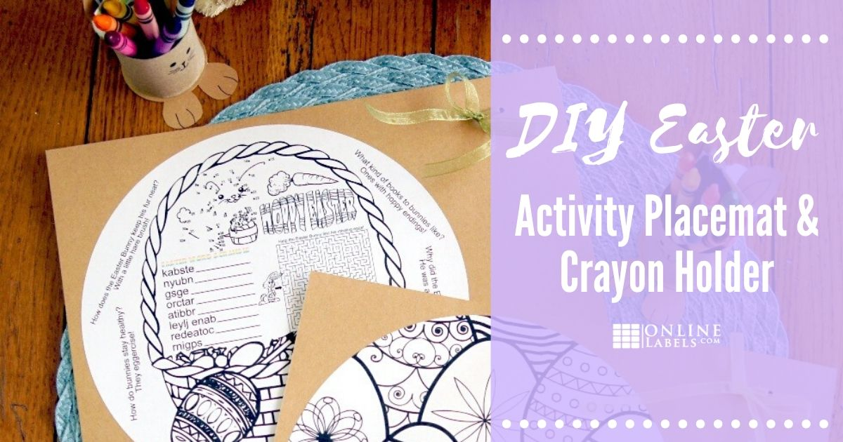 DIY Easter Activity Placecards & Crayon Holder
