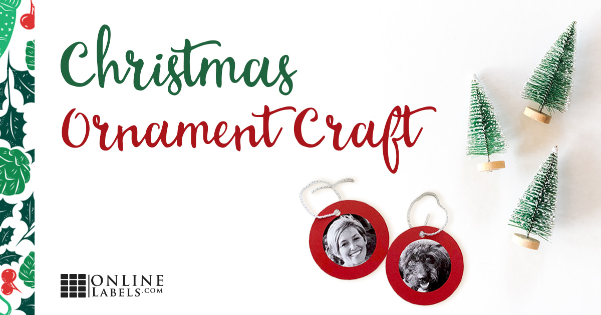 Christmas Ornament Photo Labels