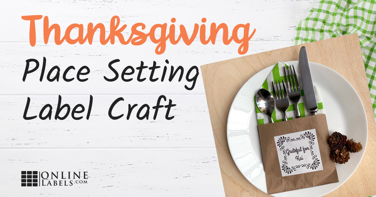 Thanksgiving place setting craft.