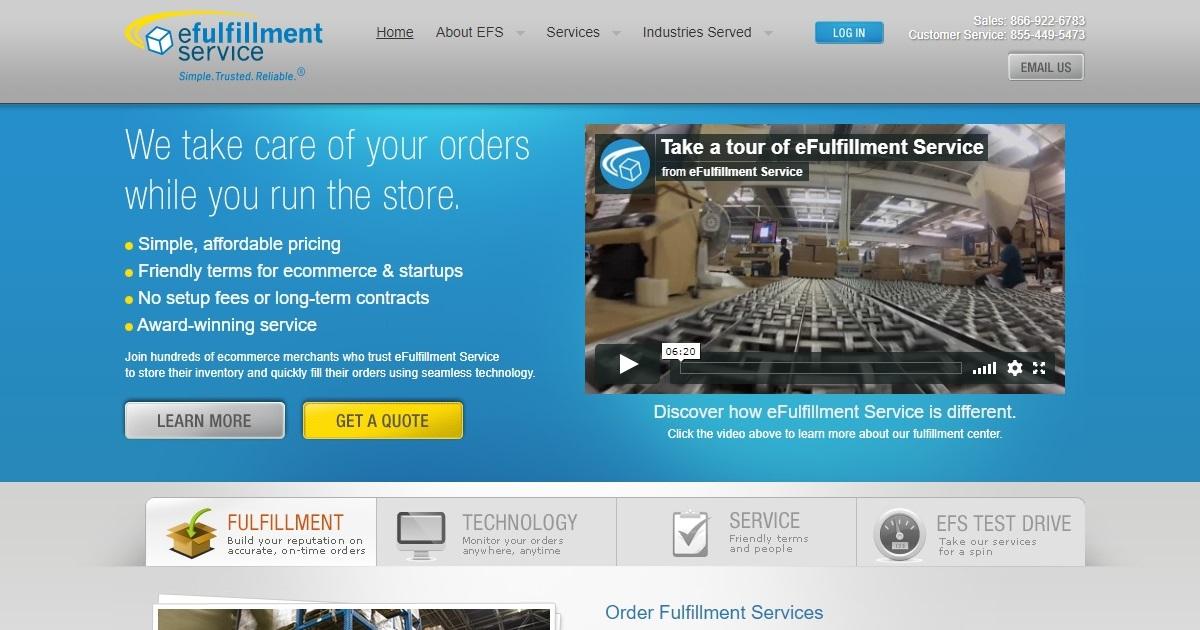 eFulfillment Service homepage