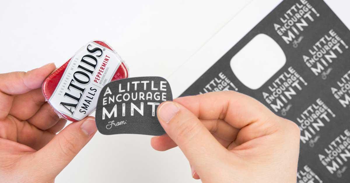 DIY custom mint tins: some encourageMINTS - step 2