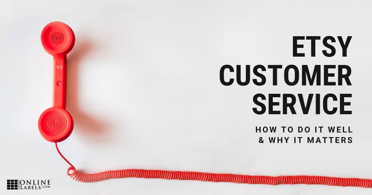 Tips for providing customer service on Etsy