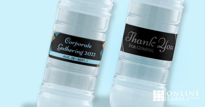 Run a professional event with free printable water bottle label templates