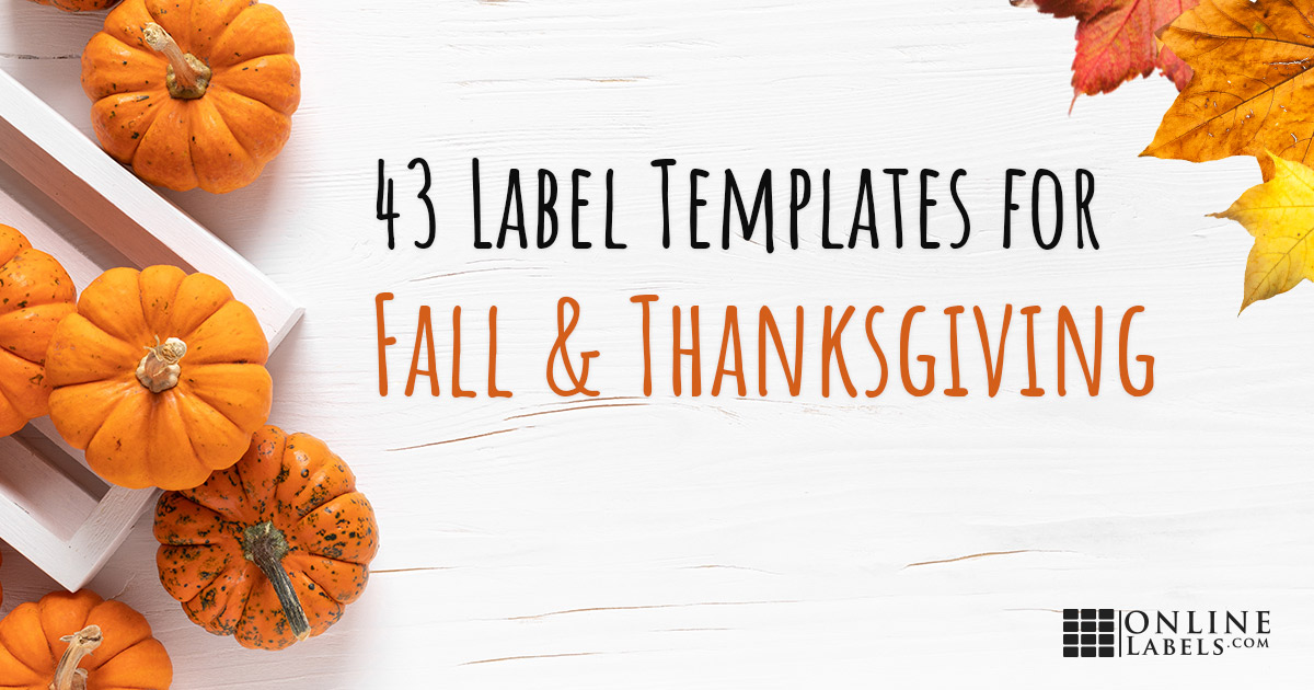43 free printable label templates you can download to decorate your home for Fall or brand your products and business