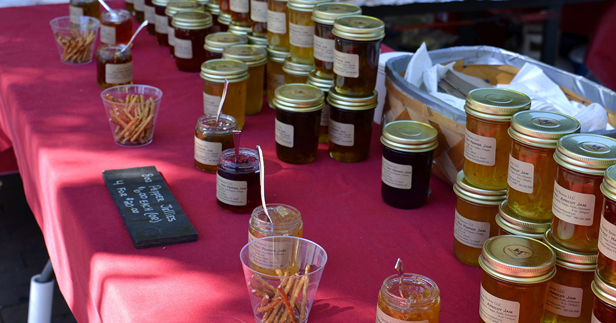 Go to a farmer's market and offer samples to attract customers