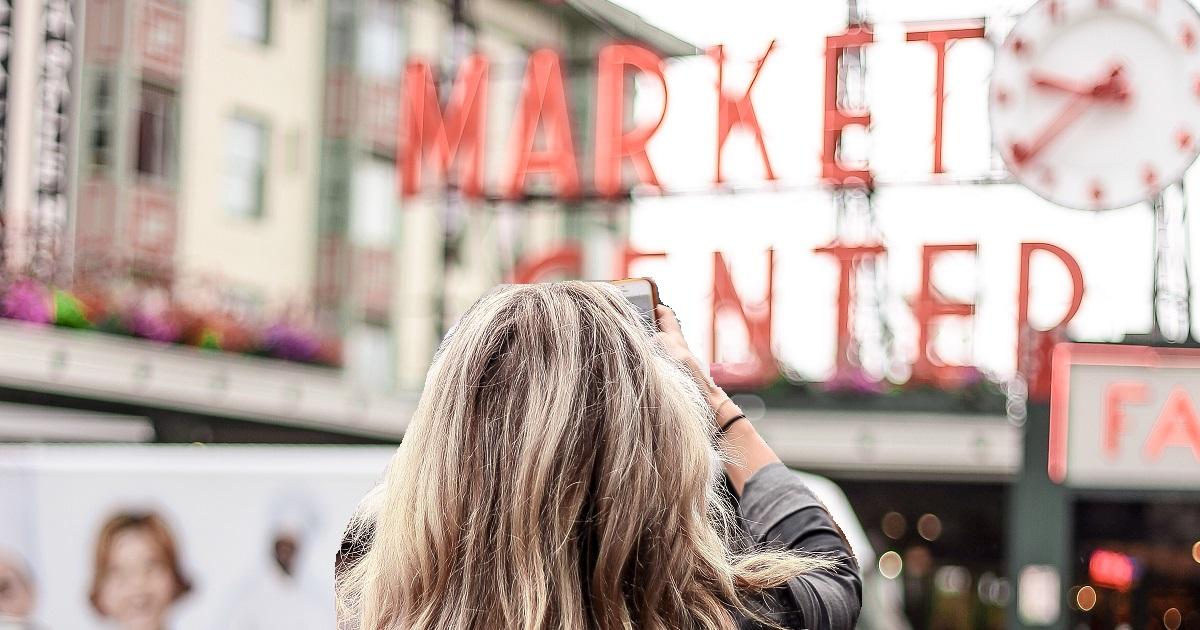 Selfie at farmer's market