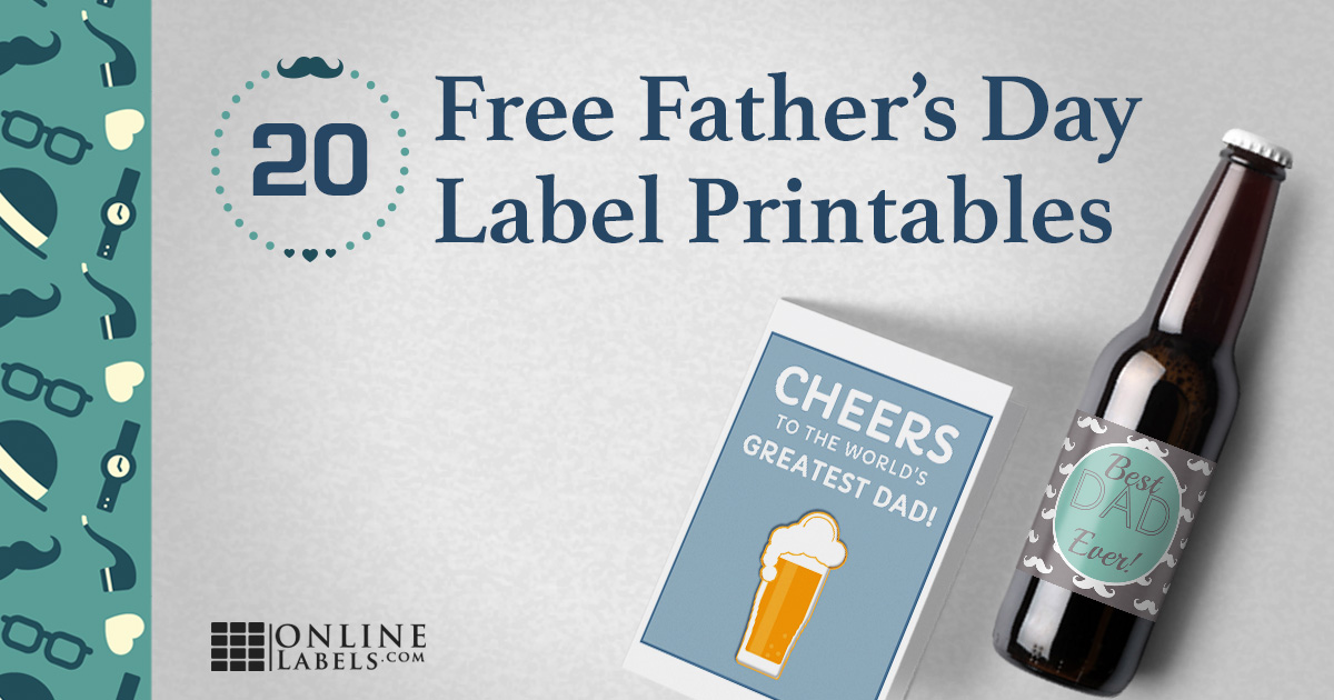 20 Free Printable Label Templates For Father's Day 🤴 🏌 🍻