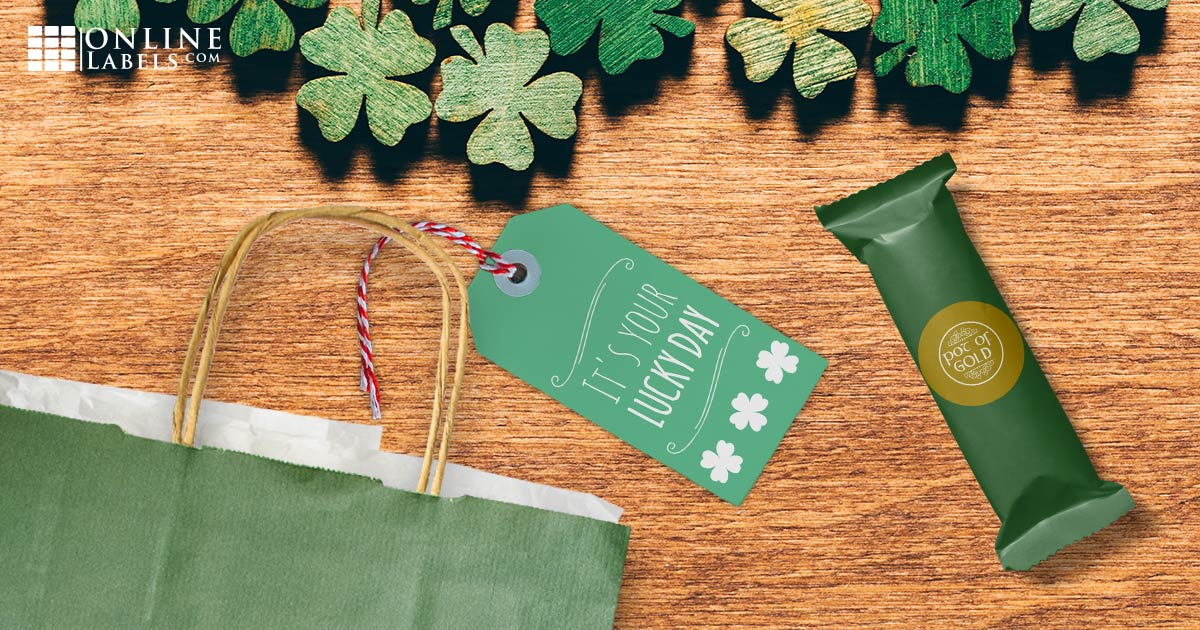 Free printable party favor label templates for St. Patrick's Day