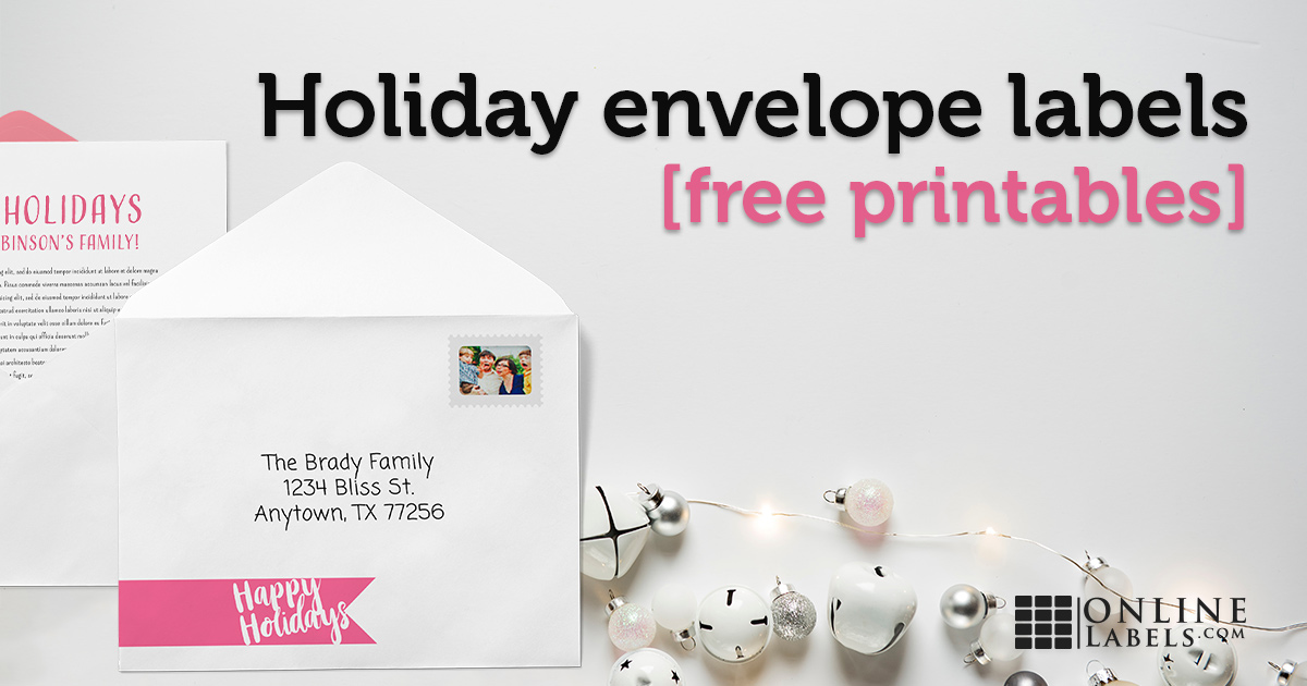 Get rid of boring holiday card envelopes with these free printable template designs