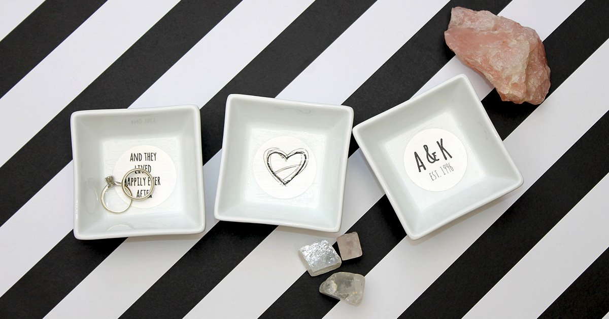 Wedding ring dish collection.