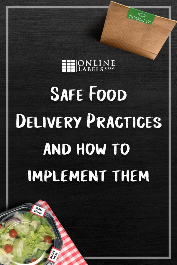 Stop delivery drivers from contaminating your restaurant food with safety seals and tamper-proof labels