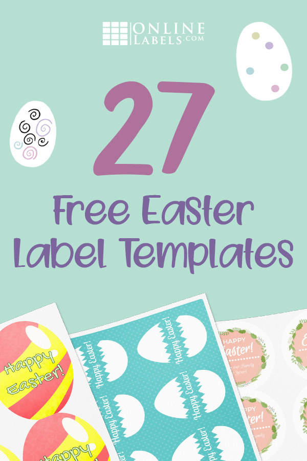 Free printable label templates you can download to celebrate and decorate for Easter
