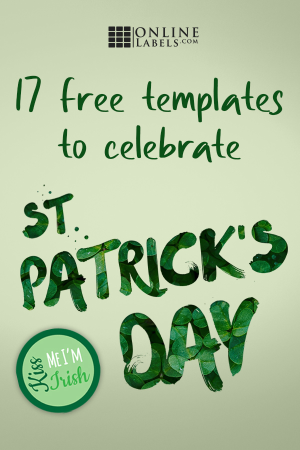 Free printable label templates you can download to celebrate St. Patrick's Day