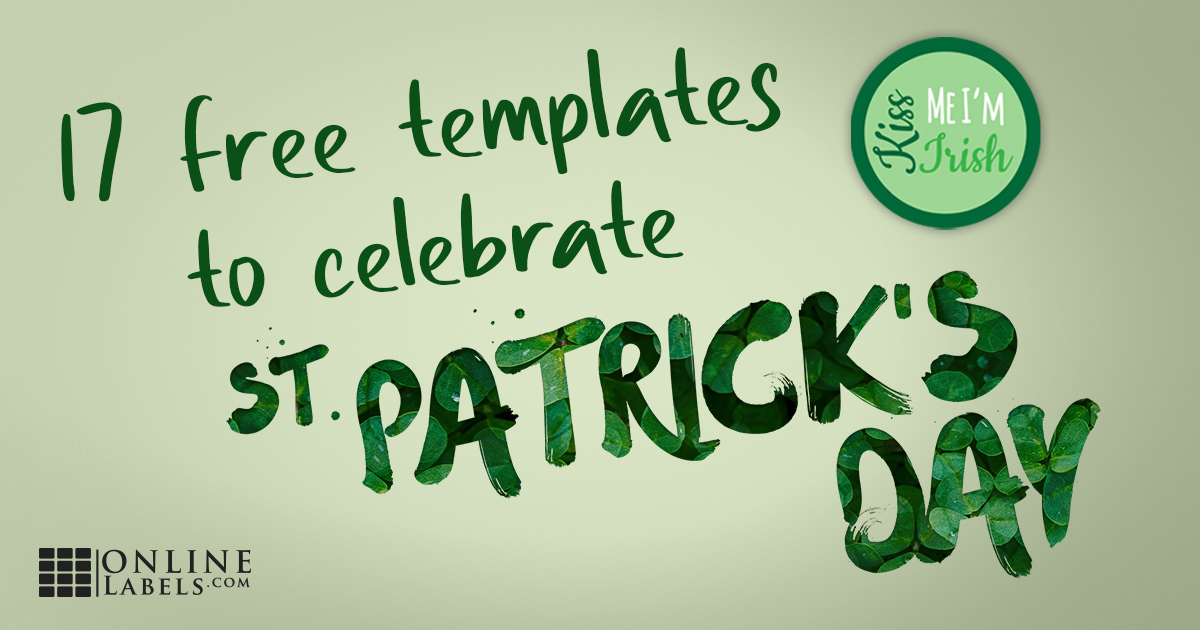 Free printable label templates you can download to decorate your home, classroom, or body for St. Patrick's Day