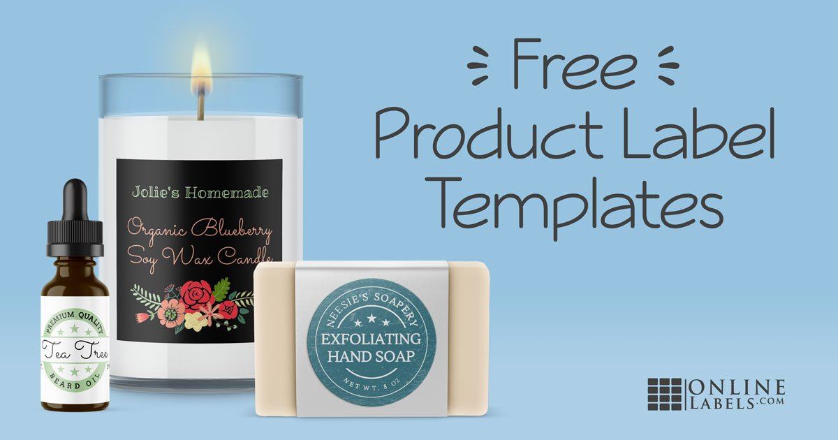 Free product label template examples.