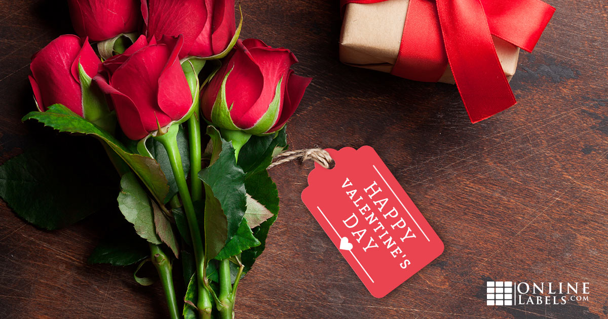 Free gift tag and sticker templates you can use to celebrate your love