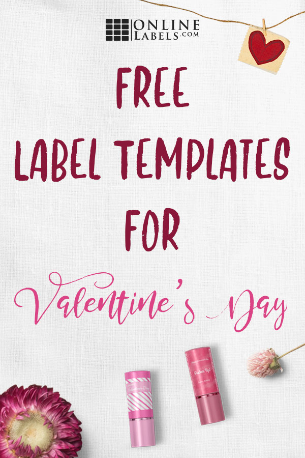 Free label templates for celebrating Valentine's Day in your home, classroom, or office