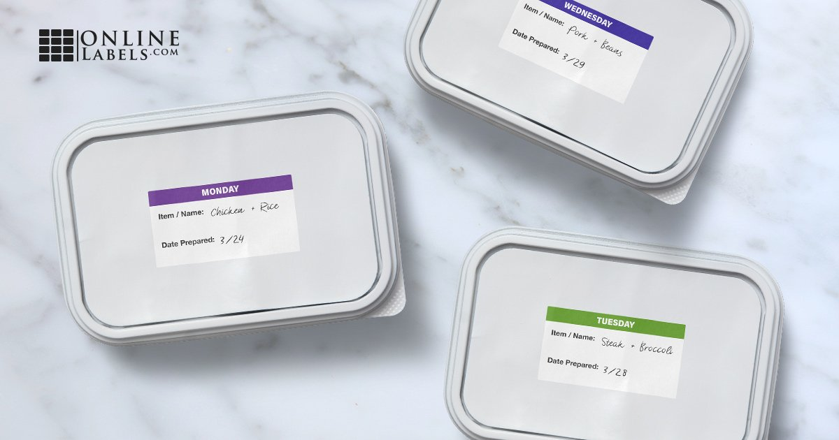 Printable labels for frozen commercial and personal goods