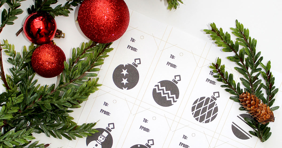 Download and print your gift tag design.