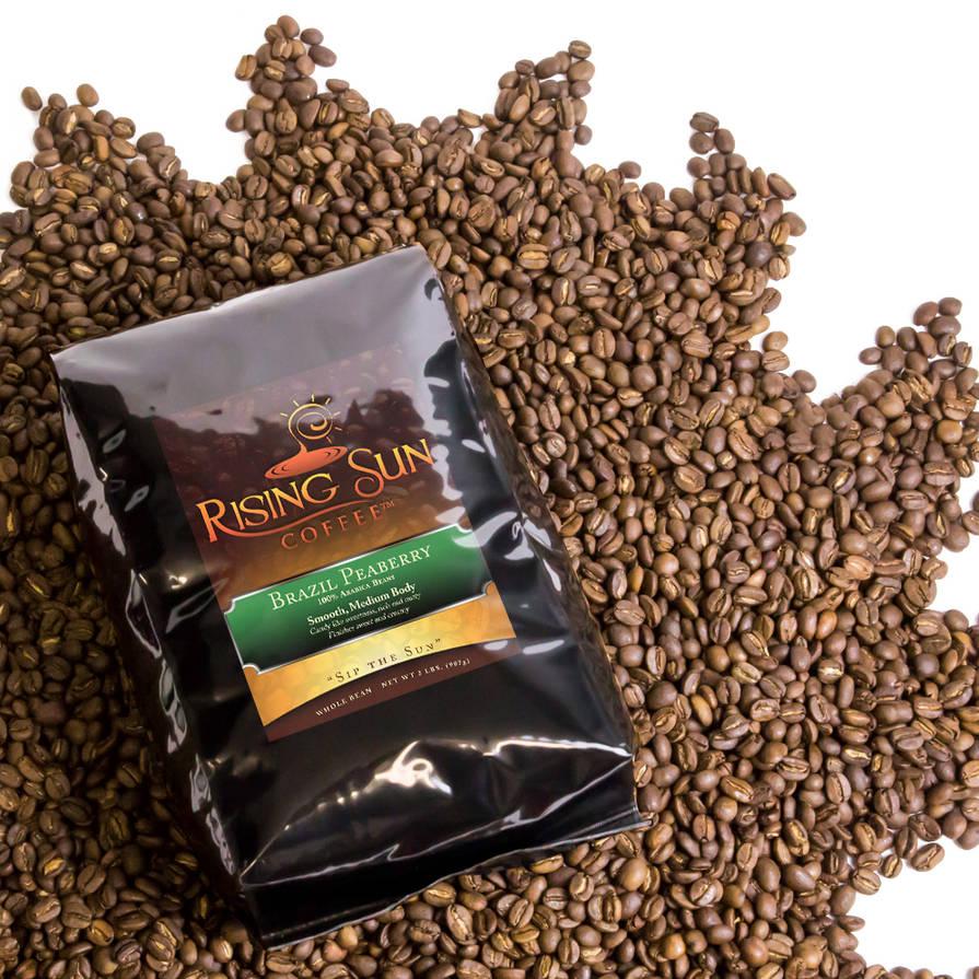 Rising Sun Coffee bag label