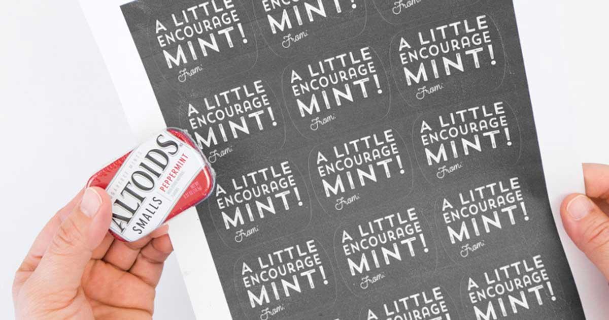 DIY custom mint tins: some encourageMINTS - step 1