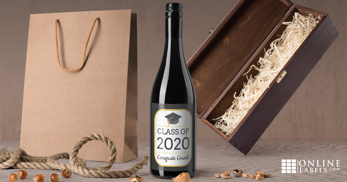 Help your college grad celebrate their accomplishment with a custom bottle of wine