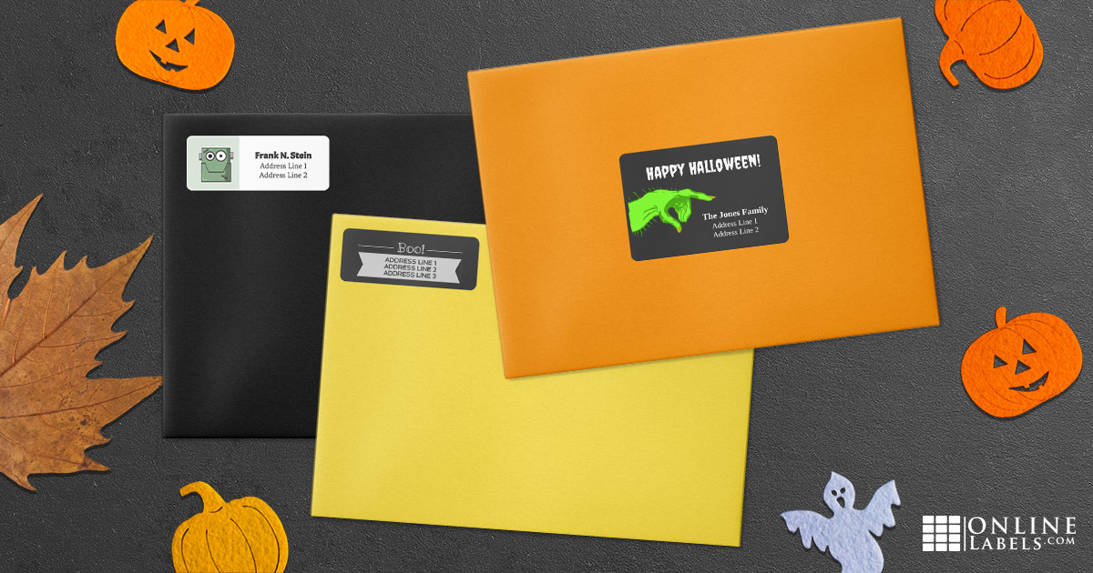 Celebrate Halloween all month long with these printable templates for addressing mail and packages
